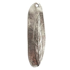 Charm Willow LeafAntique Silver