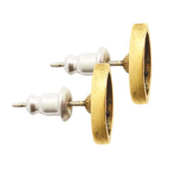 Earring Post Itsy Navette Bullet ClutchAntique Gold Nickel Free