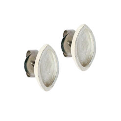 Earring Post Itsy Navette Bullet ClutchSterling Silver Plate Nickel Free