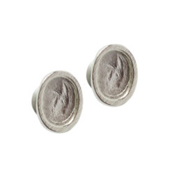 Earring Post Itsy Oval Bullet ClutchSterling Silver Plate Nickel Free