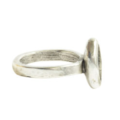 Ring Organic Bezel Mini Navette Size 8Antique Silver