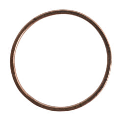 Hoop Flat Grande Circle 50mm DiameterAntique Copper
