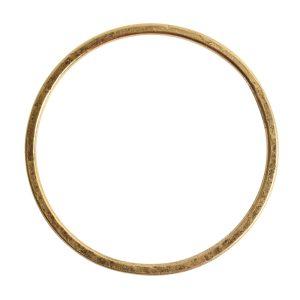 Hoop Flat Grande Circle 50mm Diameter<br>Antique Gold