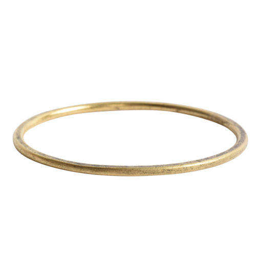 Hoop Flat Grande Circle 50mm DiameterAntique Gold