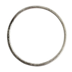 Hoop Flat Grande Circle 50mm DiameterAntique Silver
