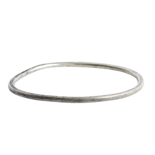 Hoop Flat Grande Circle 50mm DiameterAntique Silver
