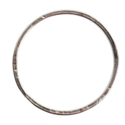 Hoop Flat Grande Circle 50mm DiameterSterling Silver Plate