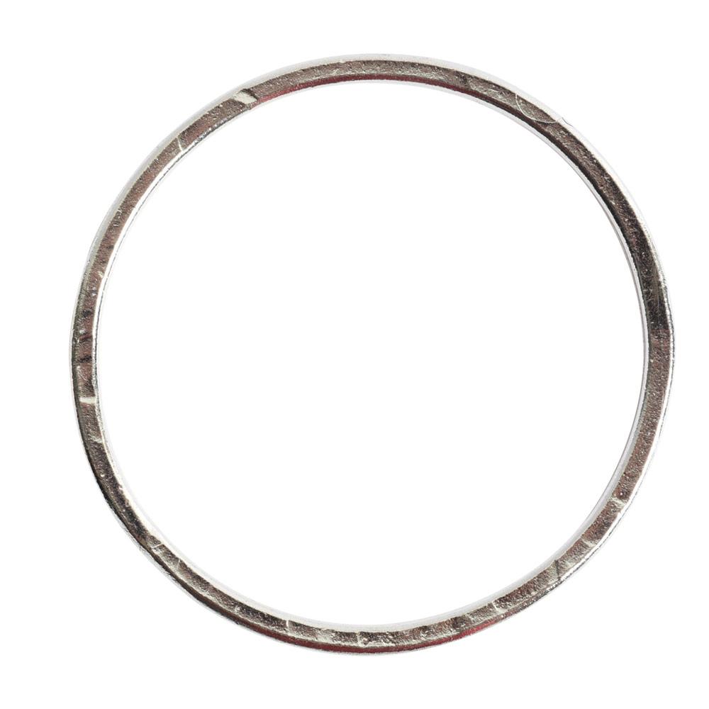 Hoop Flat Grande Circle 50mm DiameterSterling Silver Plate