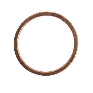 Hoop Flat Large Circle 35mm DiameterAntique Copper