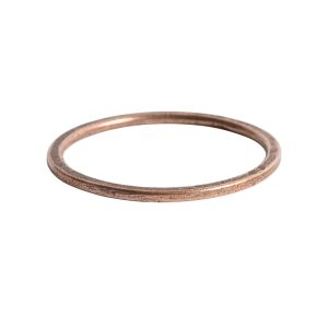 Hoop Flat Large Circle 35mm Diameter<br>Antique Copper