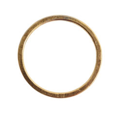 Hoop Flat Large Circle 35mm DiameterAntique Gold