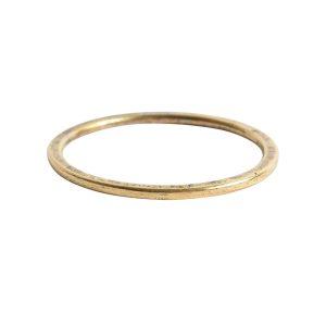 Hoop Flat Large Circle 35mm DiameterAntique Gold