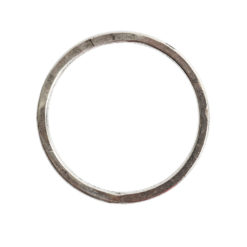 Hoop Flat Large Circle 35mm DiameterAntique Silver
