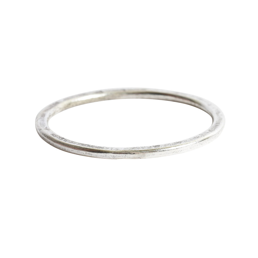 Hoop Flat Large Circle 35mm DiameterAntique Silver