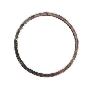 Hoop Flat Large Circle 35mm DiameterSterling Silver Plate
