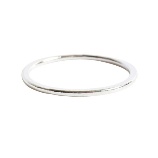 Hoop Flat Large Circle 35mm DiameterSterling Silver Plate
