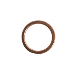 Hoop Flat Small Circle 24mm DiameterAntique Copper