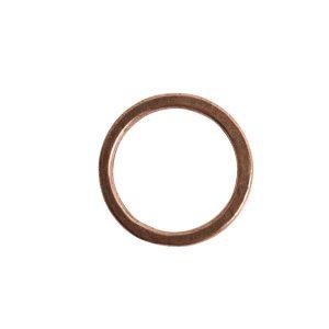 Hoop Flat Small Circle 24mm DiameterAntique Copper