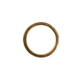 Hoop Flat Small Circle 24mm DiameterAntique Gold