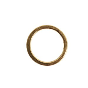 Hoop Flat Small Circle 24mm Diameter<br>Antique Gold