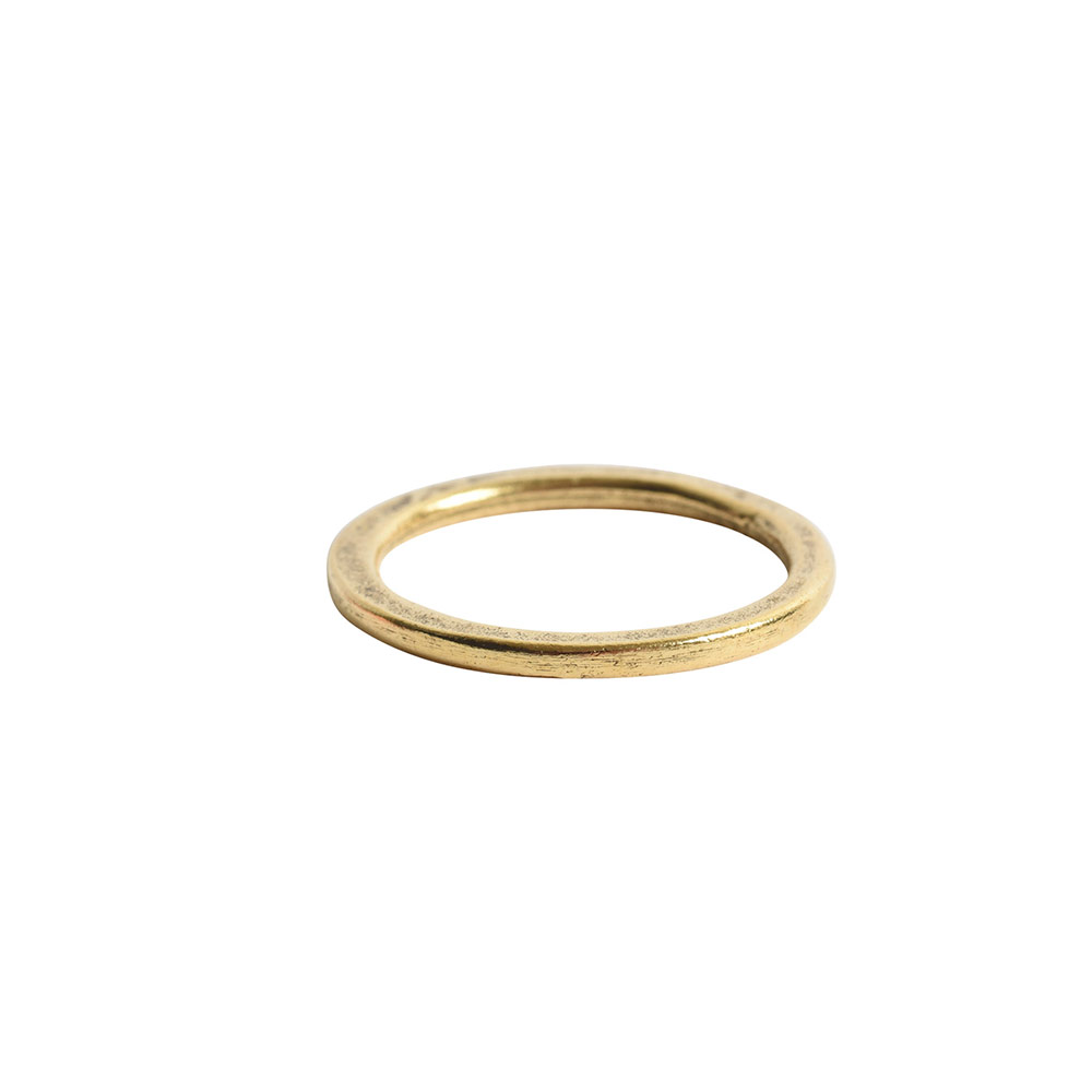 Hoop Flat Small Circle 24mm DiameterAntique Gold