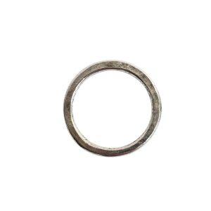Hoop Flat Small Circle 24mm DiameterAntique Silver