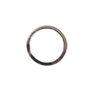 Hoop Flat Small Circle 24mm DiameterSterling Silver Plate