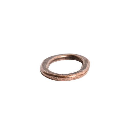 Hoop Flat Small Oval 24x15mm DiameterAntique Copper