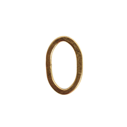 Hoop Flat Small Oval 24x15mm DiameterAntique Gold