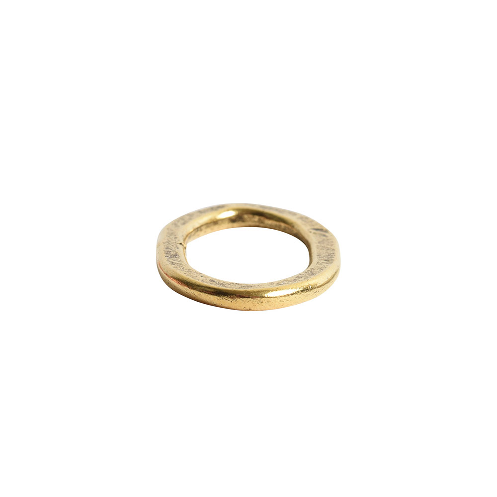 Hoop Flat Small Oval 24x15mm DiameterAntique Gold