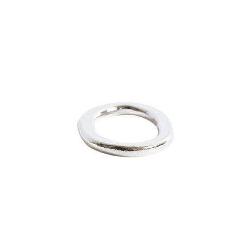 Hoop Flat Small Oval 24x15mm DiameterSterling Silver Plate