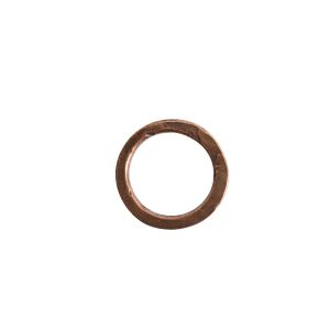 Hoop Hammered 18mm CircleAntique Copper