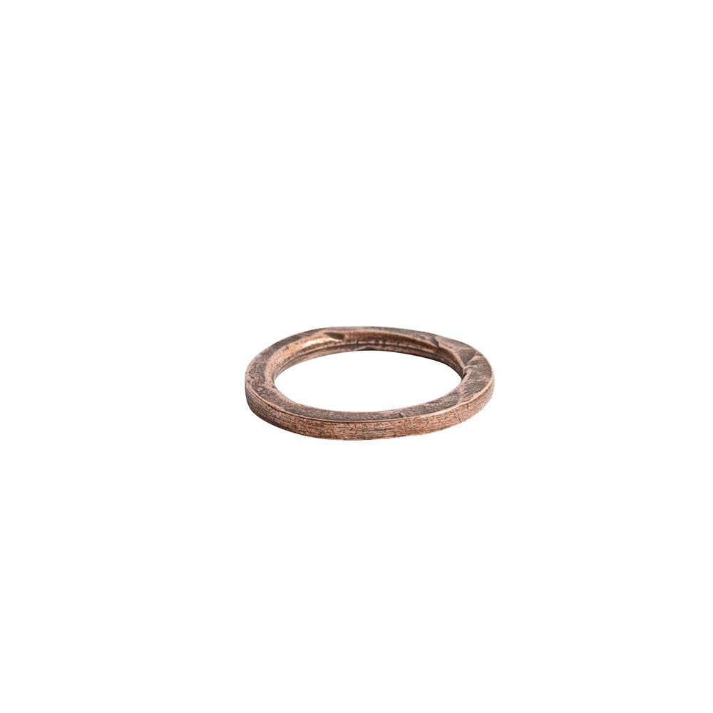 Hoop Hammered 18mm CircleAntique Copper