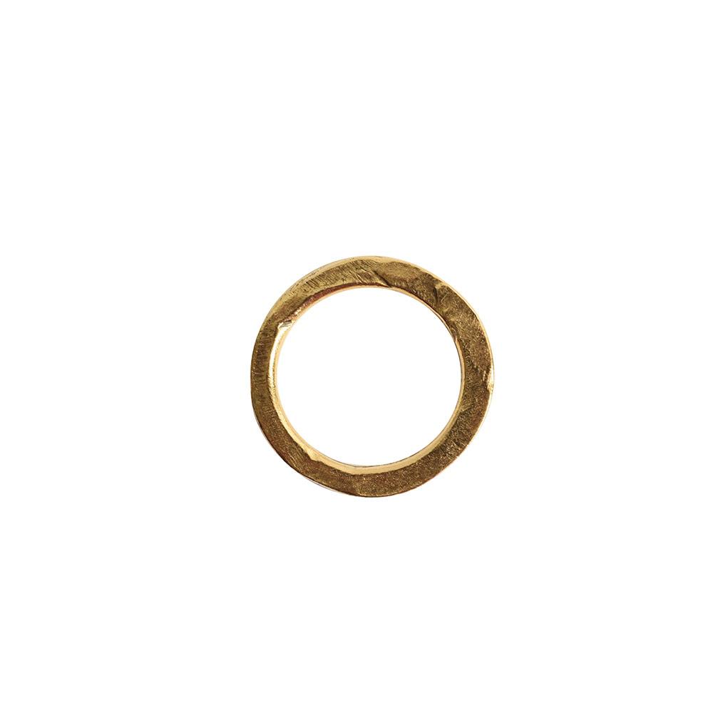Hoop Hammered 18mm CircleAntique Gold