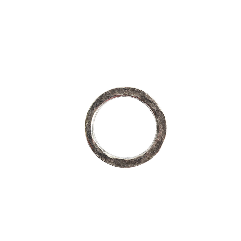 Hoop Hammered 18mm CircleAntique Silver