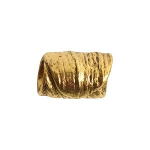 Metal Bead Tube 12mm<br>Antique Gold