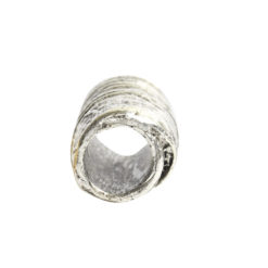 Metal Bead Tube 12mmAntique Silver