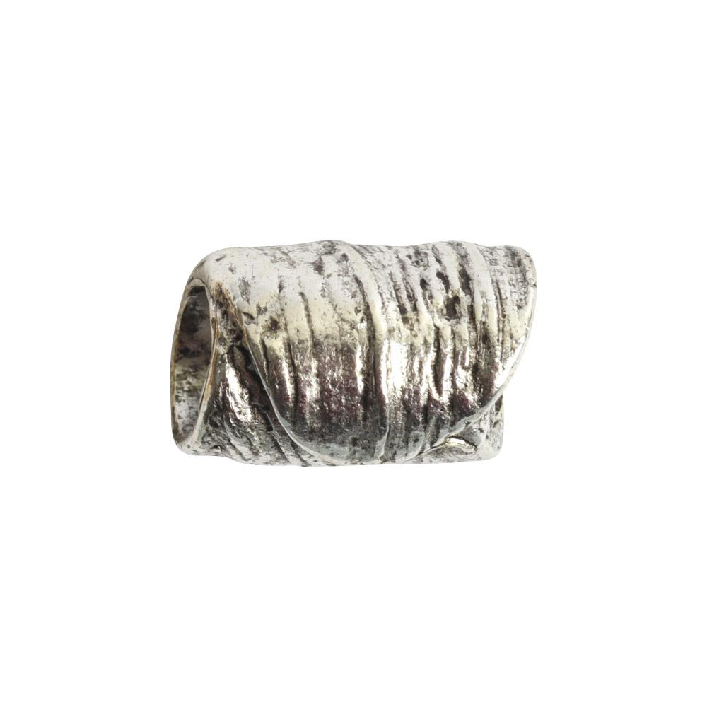 Metal Bead Tube 12mmAntique Silver