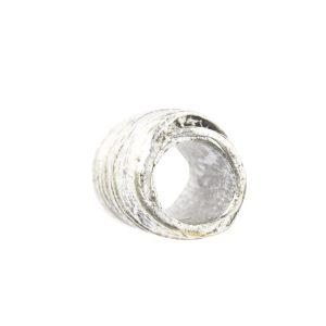 Metal Bead Tube 12mm<br>Sterling Silver Plate