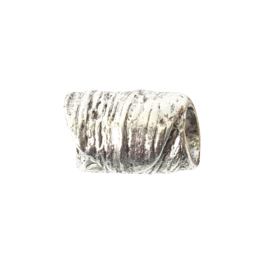 Metal Bead Tube 12mmSterling Silver Plate