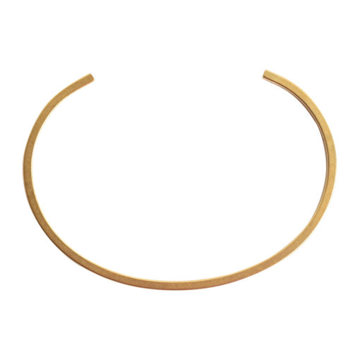 Cuff Bracelet Square FlatAntique Gold
