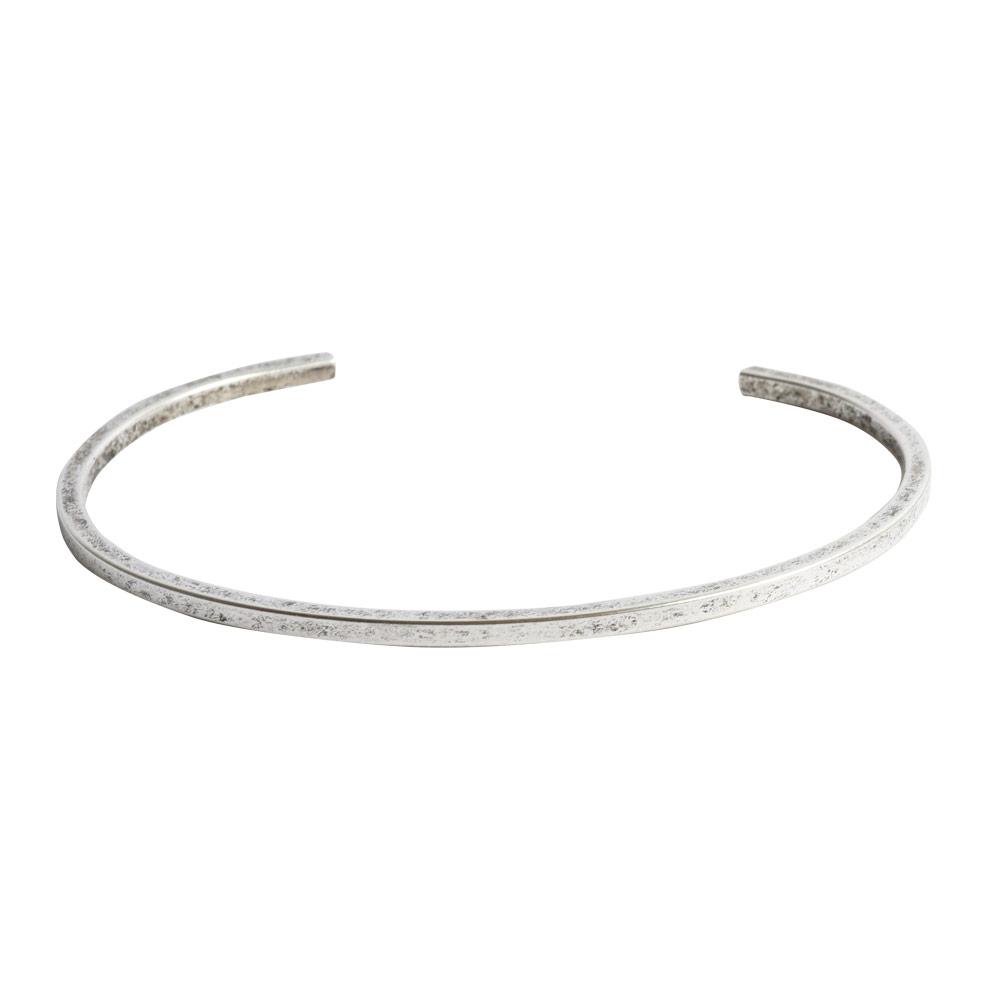 Cuff Bracelet Square FlatAntique Silver