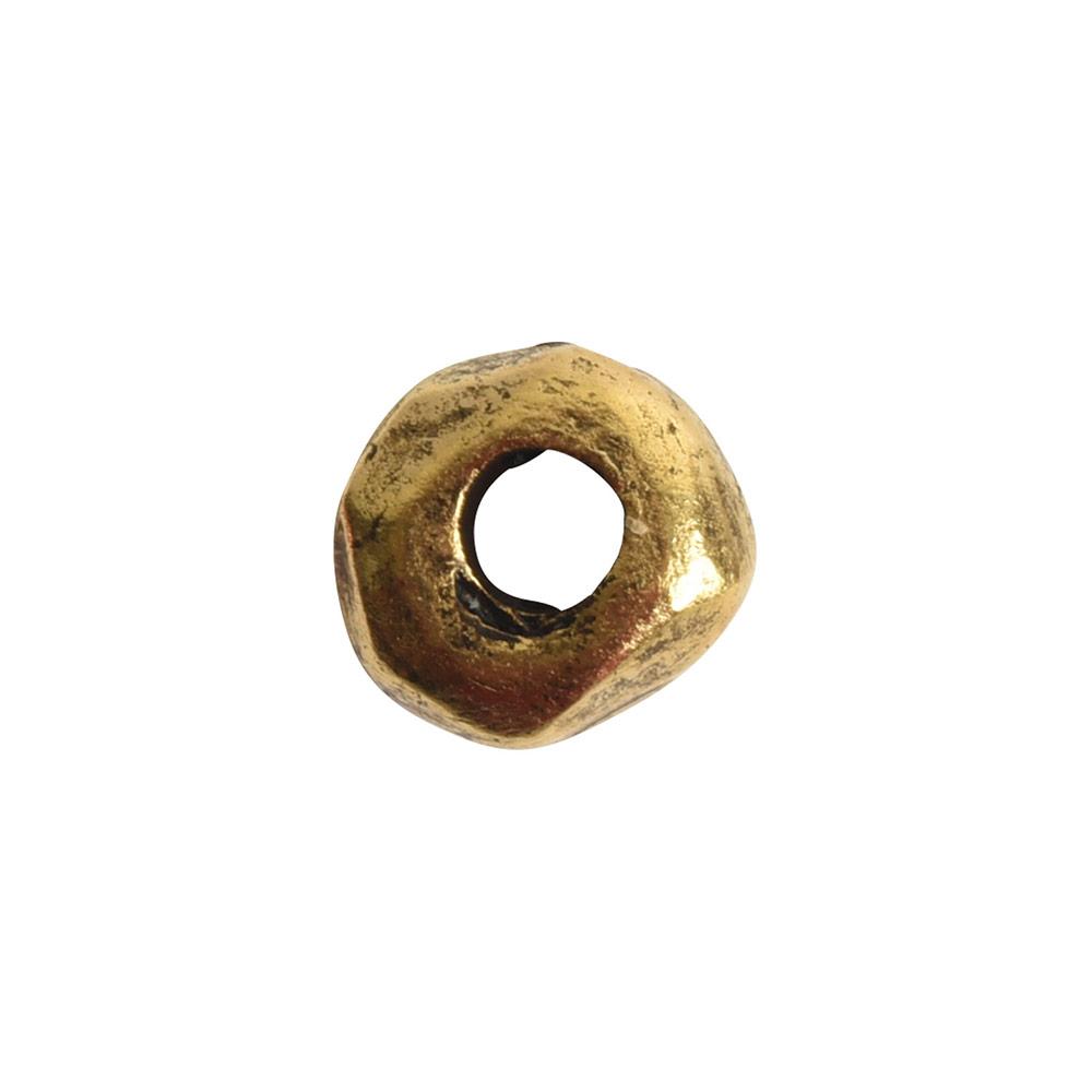 Metal Bead Organic 5mmAntique Gold