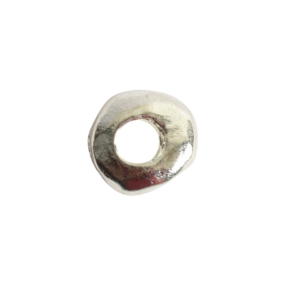 Metal Bead Organic 5mmSterling Silver Plate
