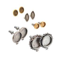 Pewter Post Earrings