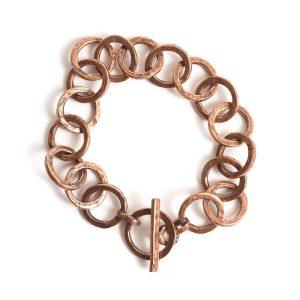 Bracelet 15mm Circle LinkAntique Copper