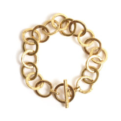 Bracelet 15mm Circle LinkAntique Gold