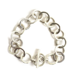 Bracelet 15mm Circle LinkAntique Silver