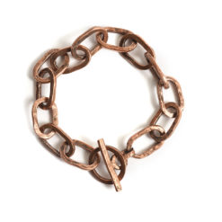 Bracelet 18x10mm Oval LinkAntique Copper
