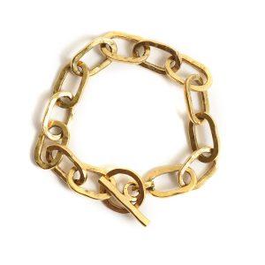 Bracelet 18x10mm Oval LinkAntique Gold